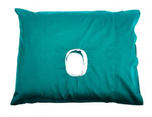 This is a CNH Pillow in a jade colour