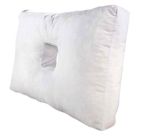 A side view of the Original Pillow with a Hole version 2